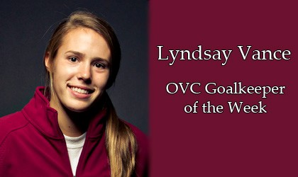 Vance earns OVC weekly honor